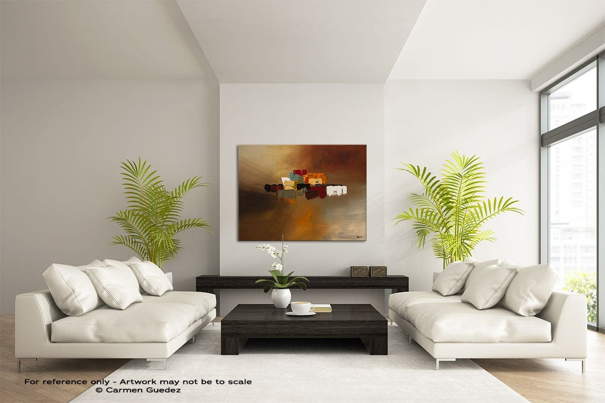 Reflexions Large Modern Abstract Art Painting Id49