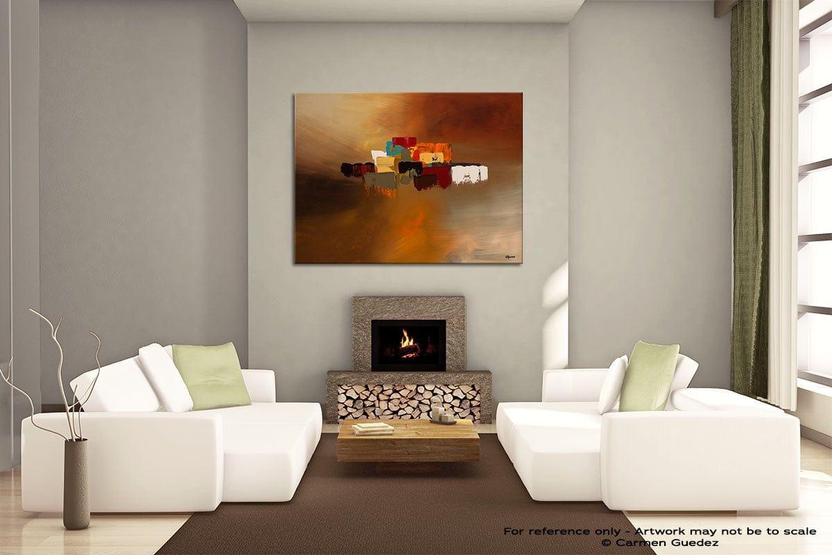 Reflexions Painting On Canvas Large Living Room Id52