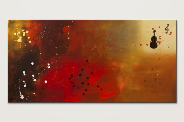 Requiem Modern Violin Music Abstract Art Id80