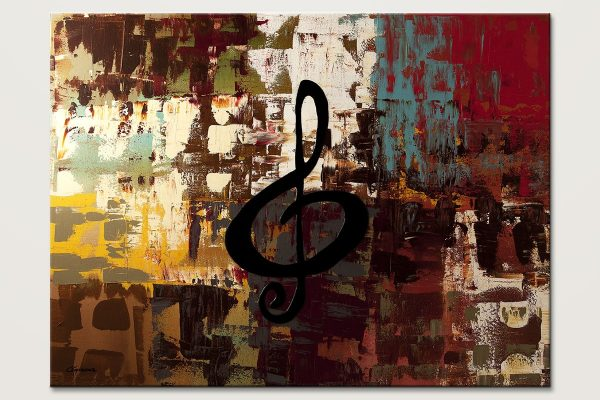 Rock On Modern Music Abstract Art Painting Id80