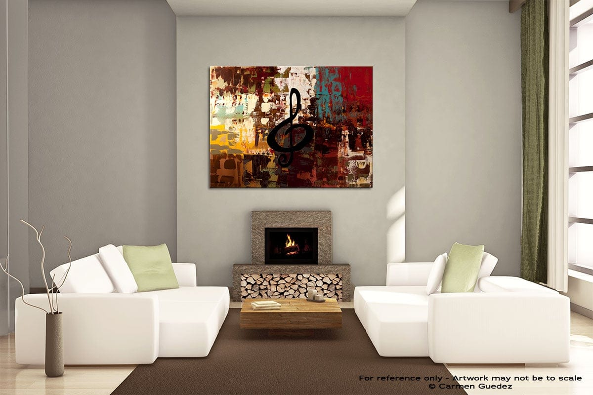 Rock On Painting On Canvas Large Living Room Id52