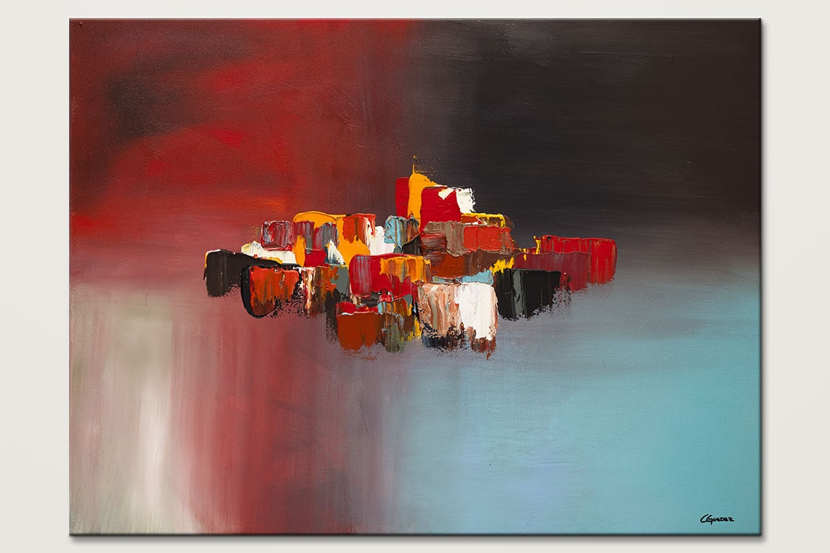 Rush Hour Large Abstract Art Painting Id80
