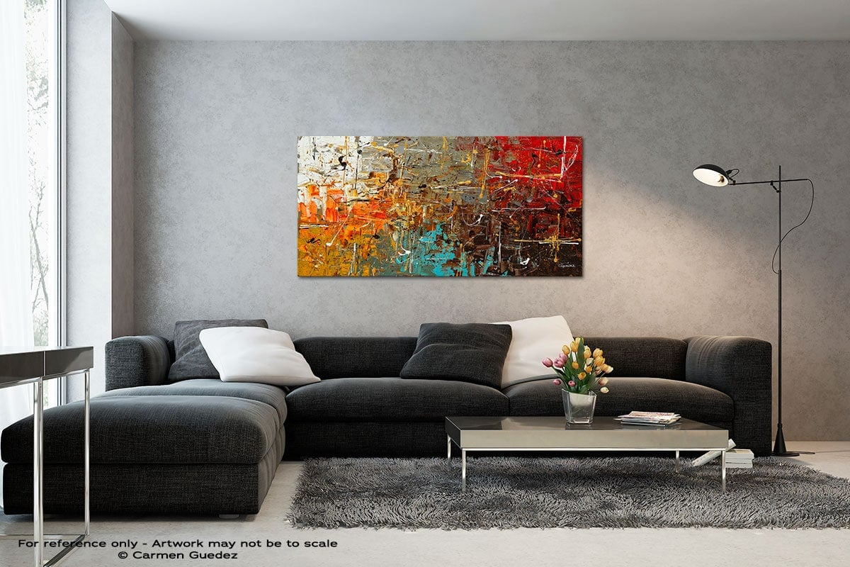 Safe And Sound Black And White Wall Abstract Art Painting Id70