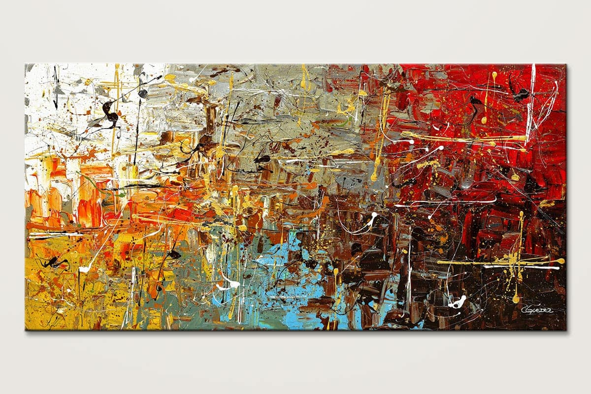 Image gallery modern contemporary abstract art for Artwork on canvas for sale
