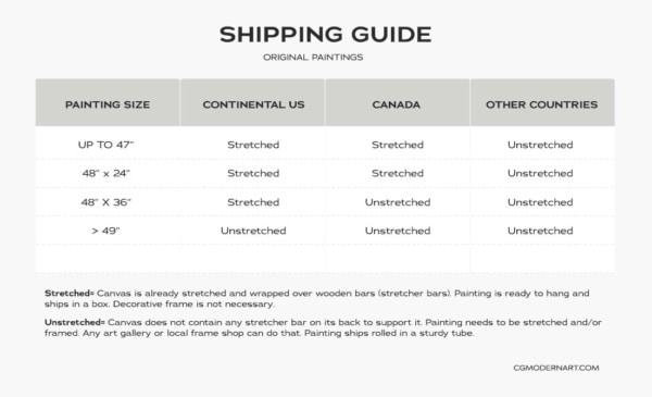 Shipping Guide | CGMODERNART