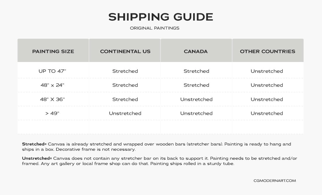 Shipping Guide | CGMODERNART