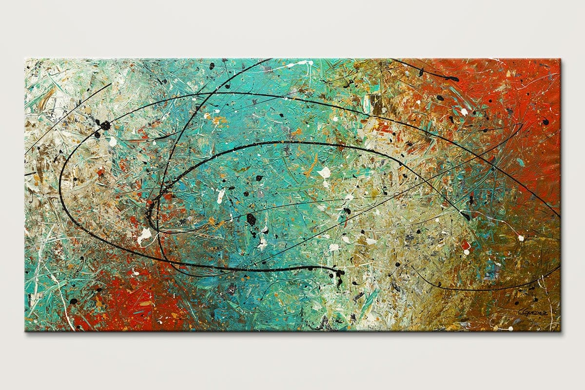 Large abstract wall art sight to behold huge large A wall painting