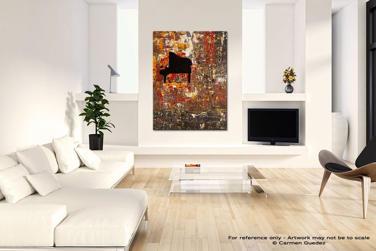 Solemnis Neutral Wall Abstract Painting Living Room Id55