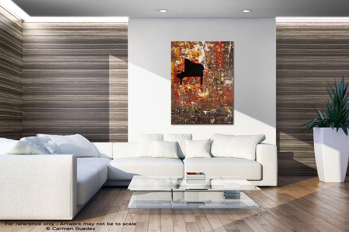 Solemnis Original Gray Wall Abstract Art Living Room Id56