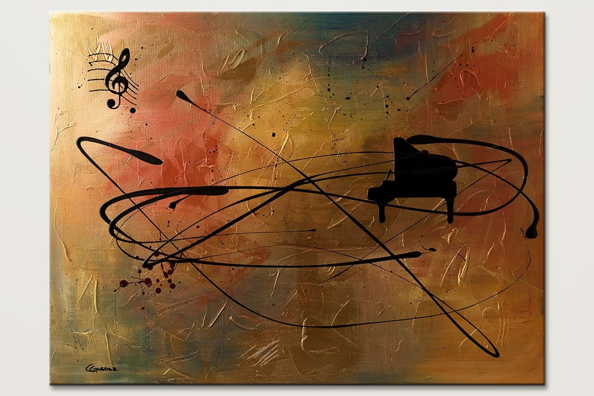 Solo Piano - Abstract Art Painting Image by Carmen Guedez