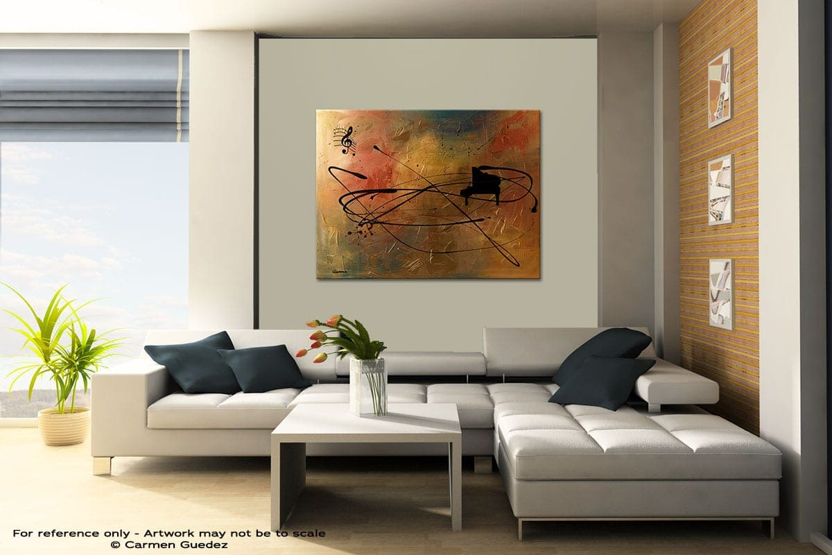Solo Piano Contemporary Abstract Art Painting Id48