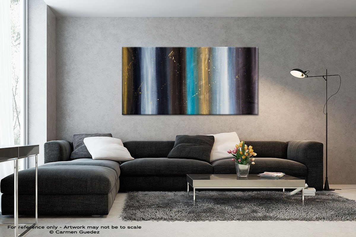 Solstice Black And White Abstract Art Living Room Id2