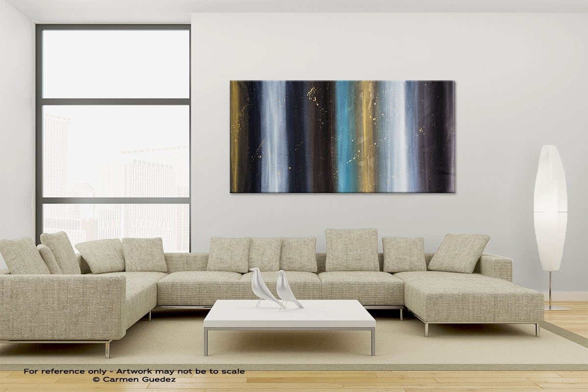 Solstice Large Canvas Abstract Painting Id6