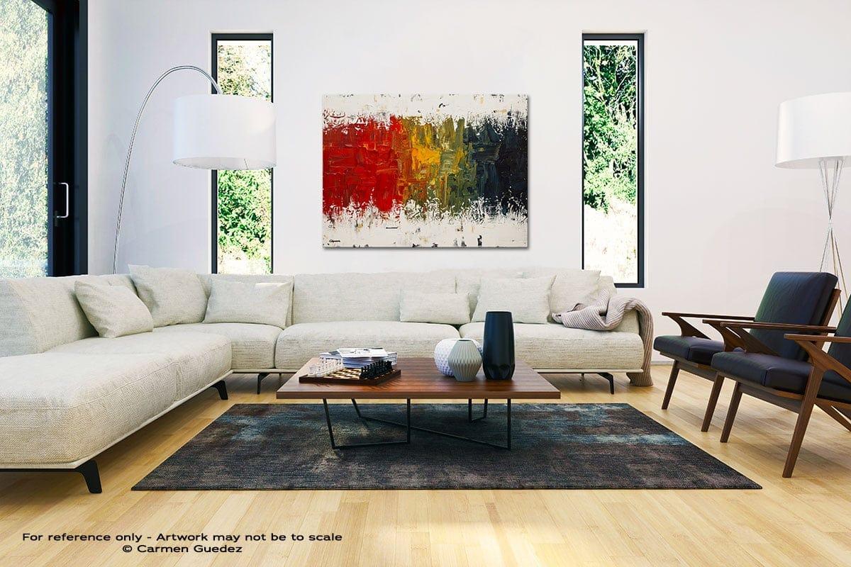 Spectrum Black And White Interior Decor Abstract Art Id46