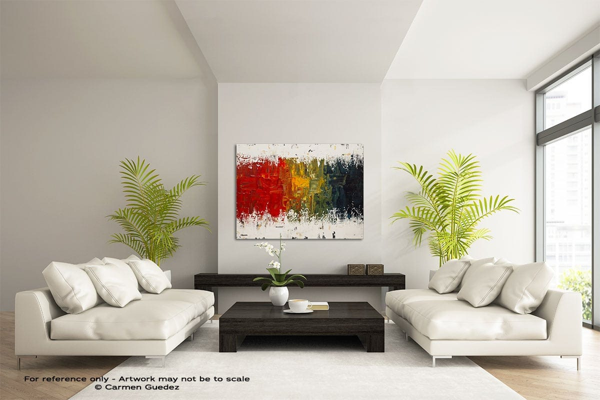 Spectrum Large Modern Abstract Art Painting Id49