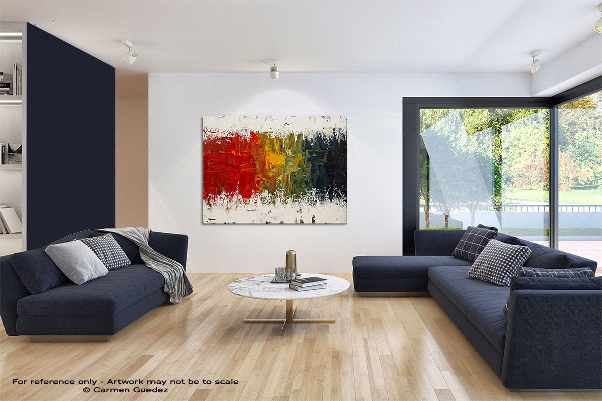 Spectrum Modern Blue Abstract Painting Home Id50