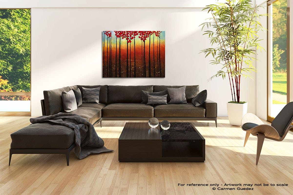 Spring Ahead Abstract Painting Modern Home Id69