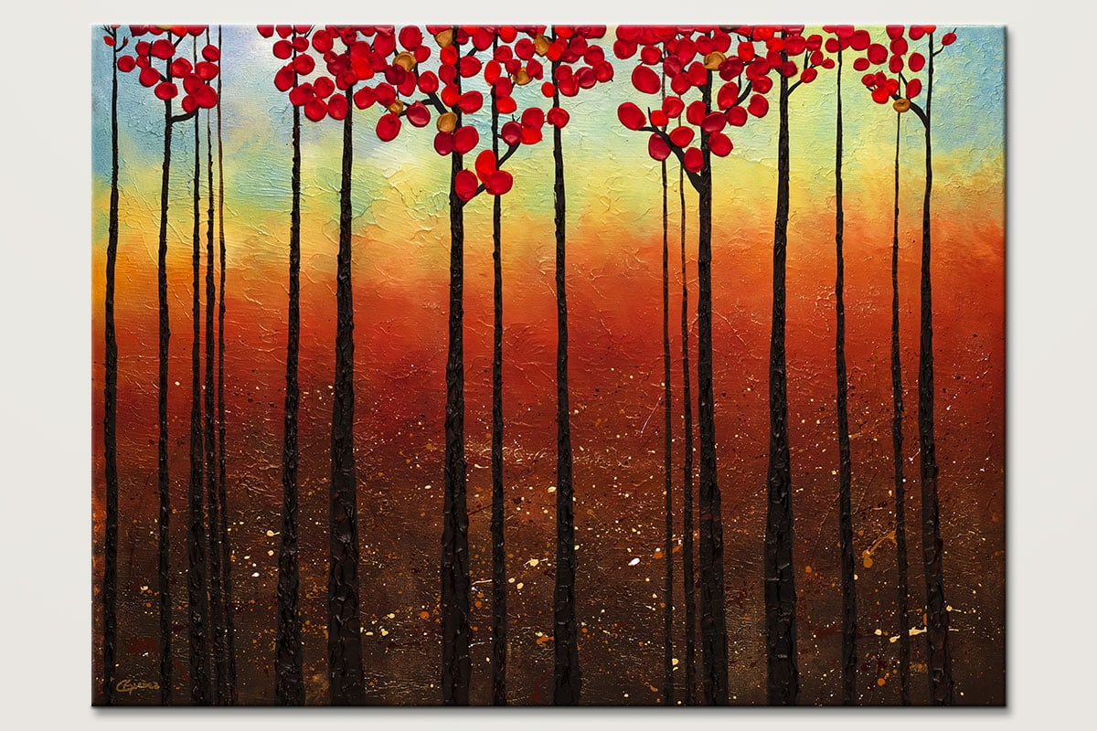 Spring Ahead Modern Landscape Canvas Art Painting Id80