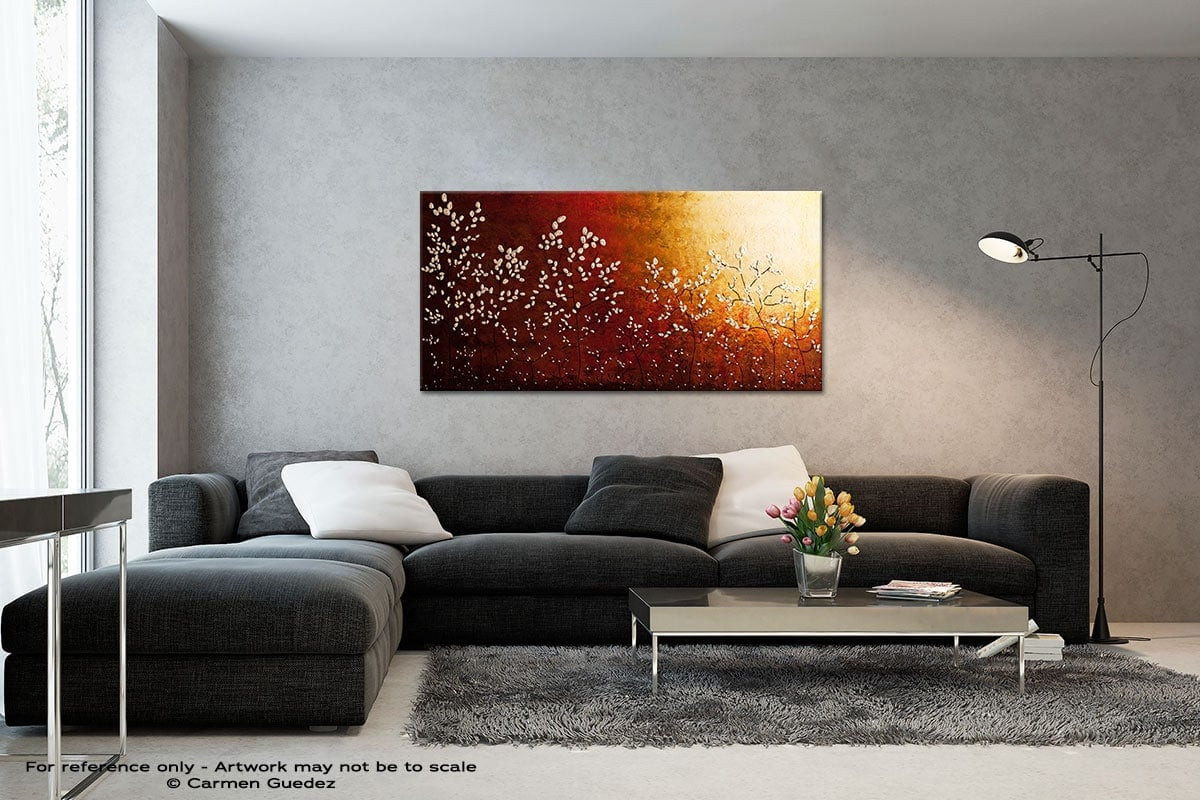 Spring Sunrise Black And White Wall Abstract Art Painting Id70