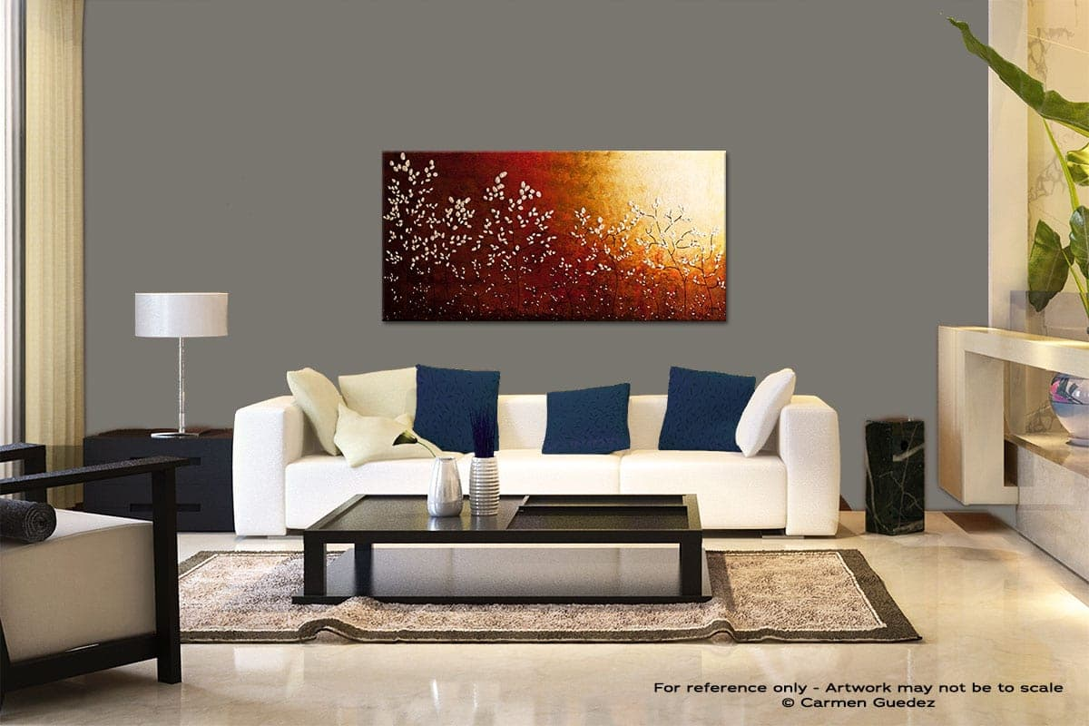 Spring Sunrise Modern Abstract Art Painting Living Room Id37