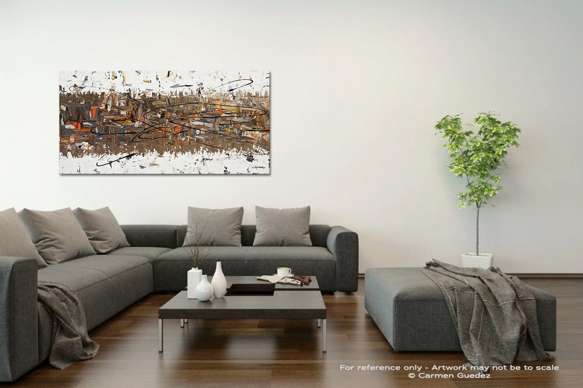 Stars Passing Acrylic Gray Wall Art Painting Id34