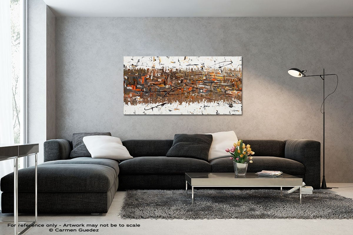 Stars Passing Black And White Wall Abstract Art Painting Id70