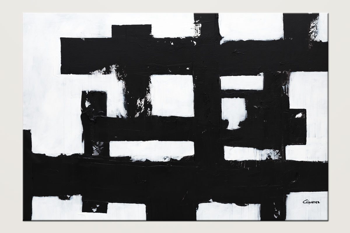 Straightforward Abstract Art In Black And White