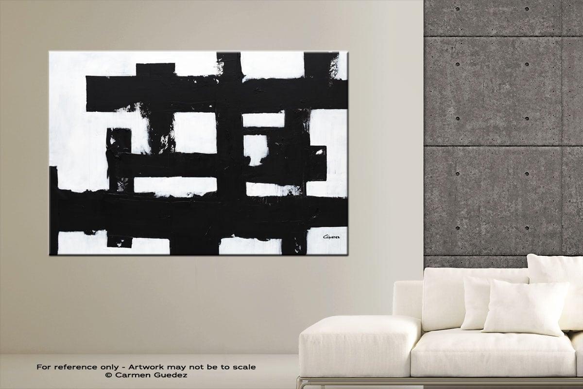 Straightforward Abstract Art Modern Painting Large Id76