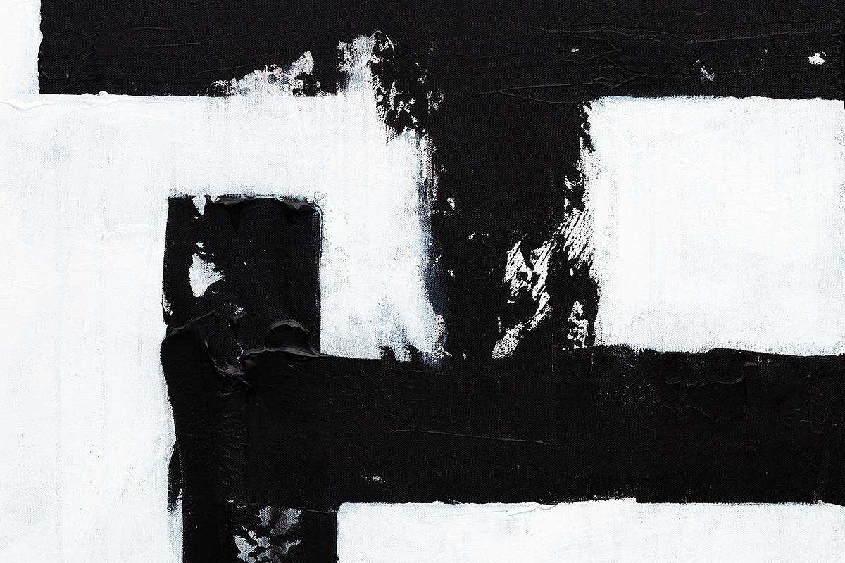 Straightforward Abstract Art Painting Close Up