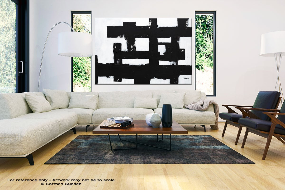 Straightforward Large Oversized Abstract Canvas Painting Id23