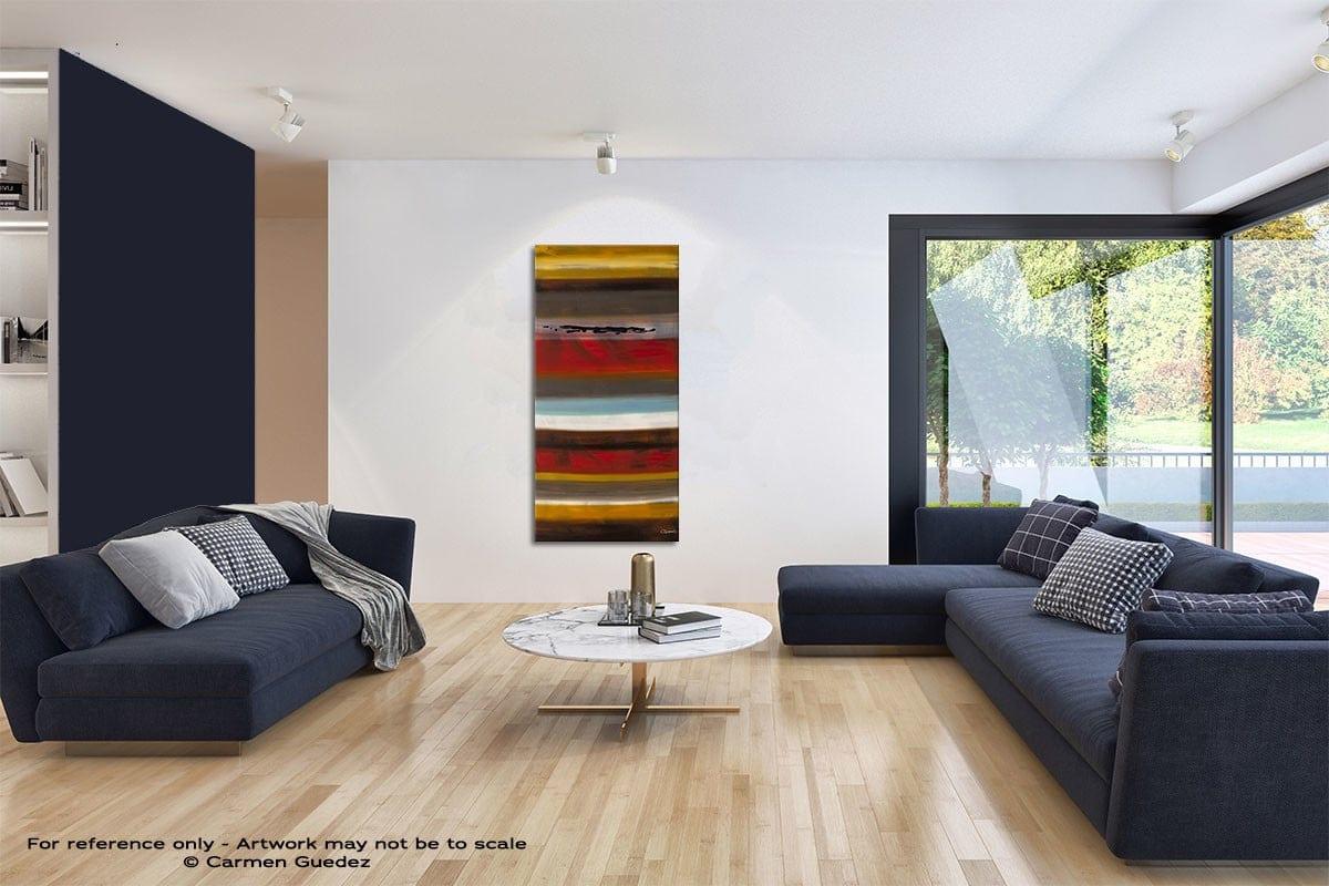 Strata Original Vertical Abstract Art Id42