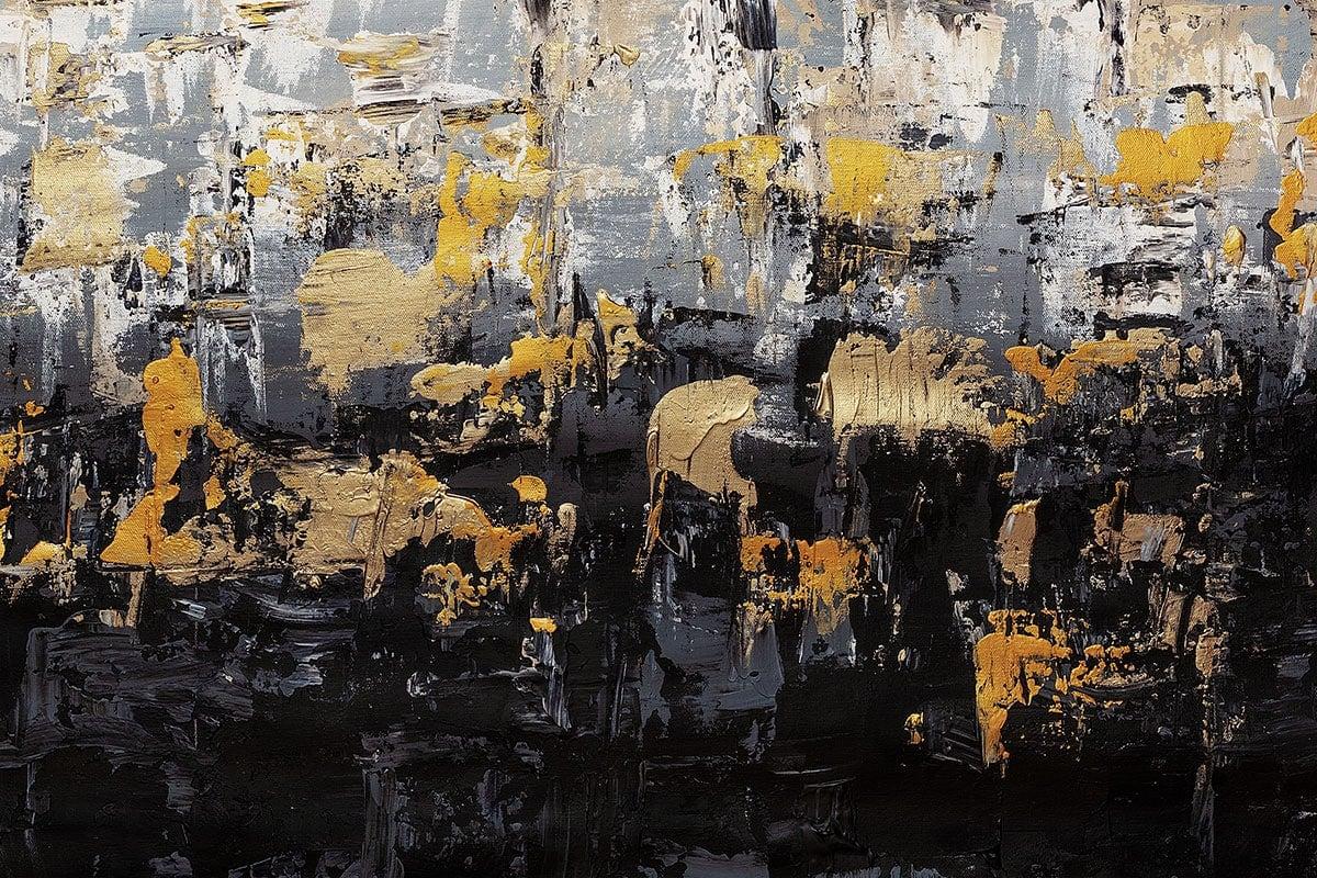 Striking Gold4 Abstract Art Painting Close Up