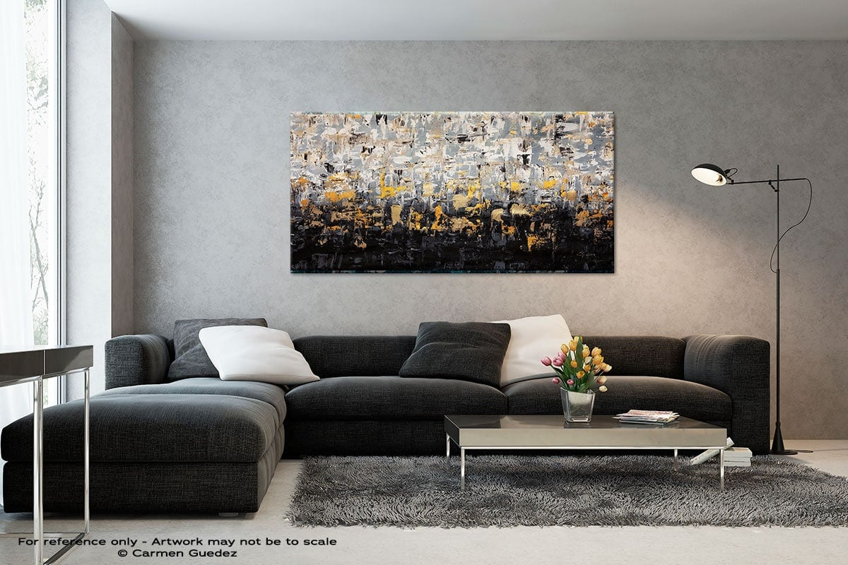 Striking Gold4 Black And White Abstract Art Living Room Id2