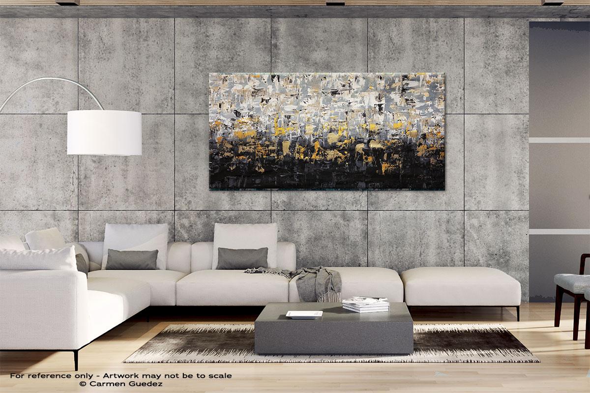 Striking Gold4 Gray Abstract Wall Art Id4