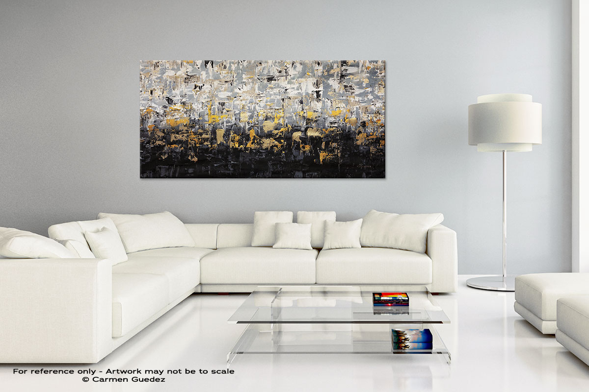 Striking Gold4 Handmade Canvas Art Painting Home Id5