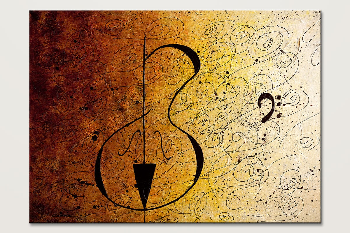 Suite No 1 Music Abstract Art Painting Id80