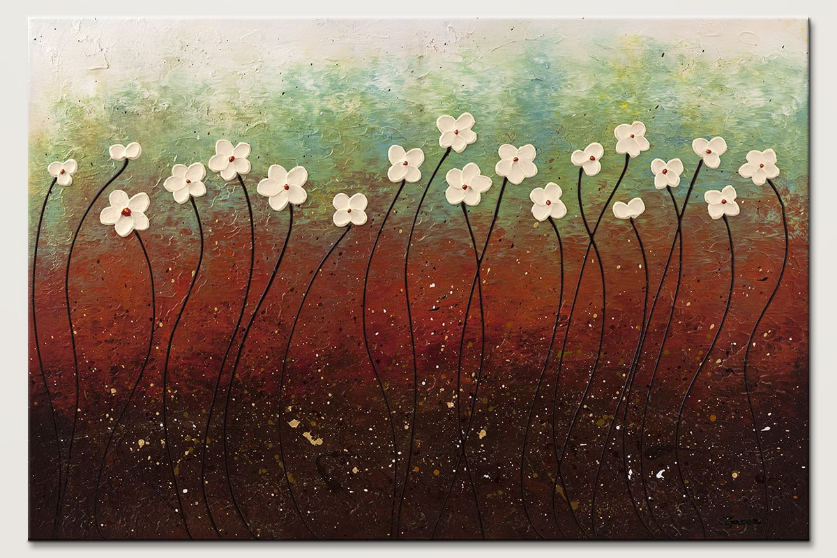 Summer Flowers - Abstract Art Painting Image by Carmen Guedez