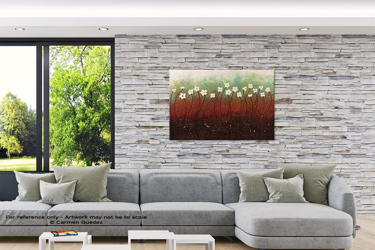 Summer Flowers Original Abstract Painting On Canvas Id62