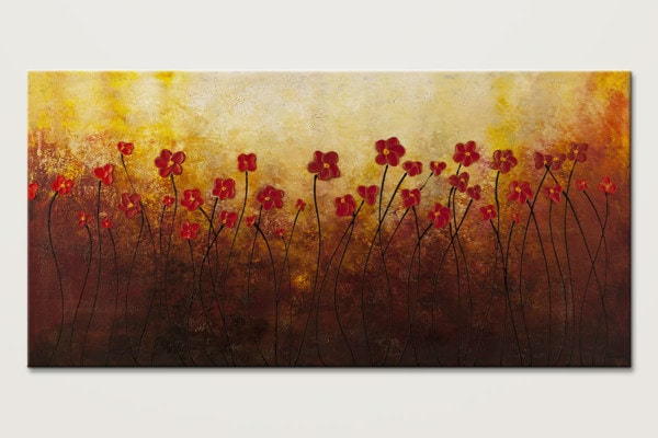 Sunrise Garden Abstract Art Painting Id80