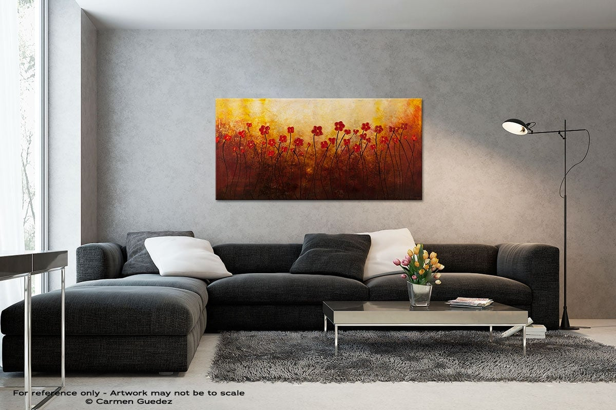 Sunrise Garden Black And White Wall Abstract Art Painting Id70