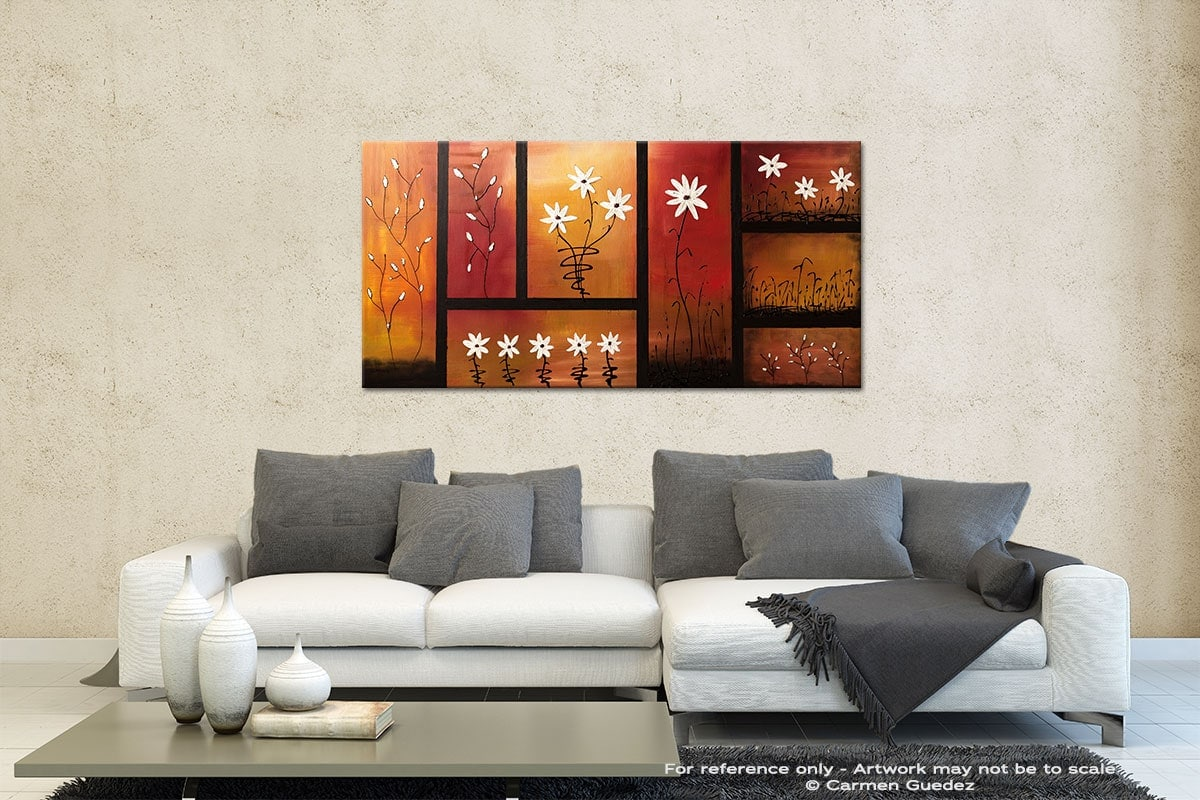 Sunset Garden Contemporary Abstract Art Id35
