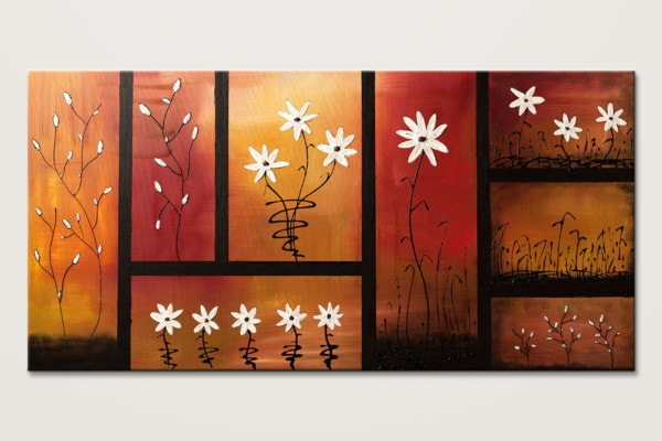 Sunset Garden Original Abstract Art Painting Id80