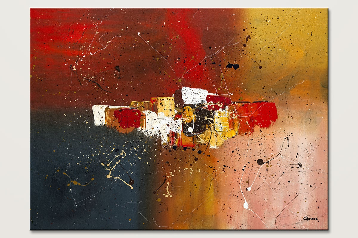 Supernova Colorful Abstract Painting Id80