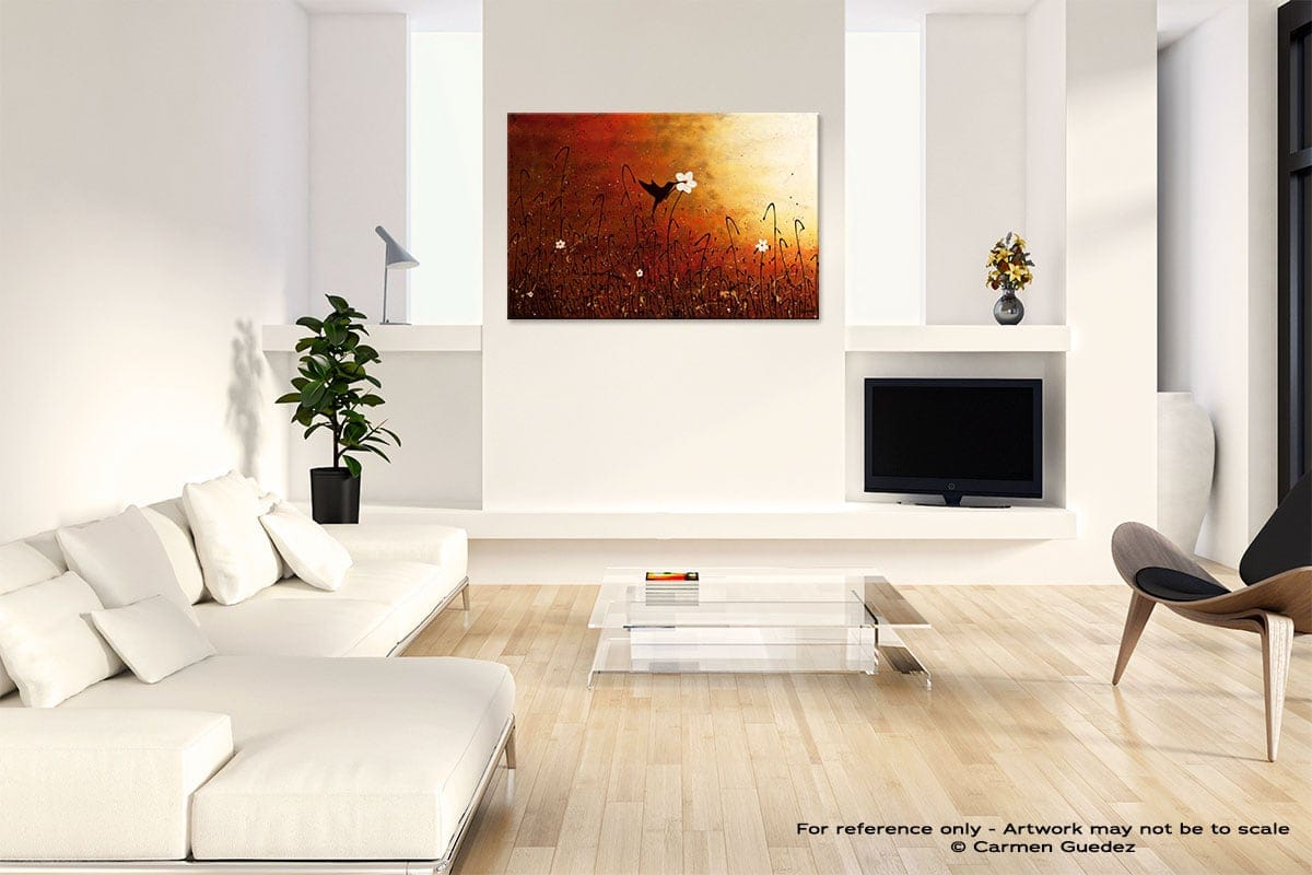 Sweet Nectar Abstract Art Painting Interior Living Room Design Id60
