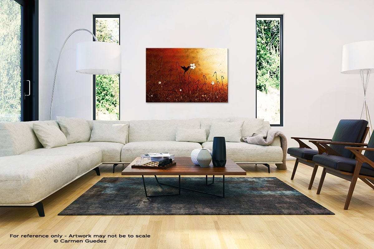 Sweet Nectar Abstract Painting Interior Decor Art Id61