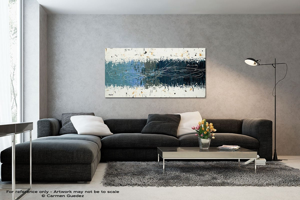 Taking Chances Black And White Wall Abstract Art Painting Id70