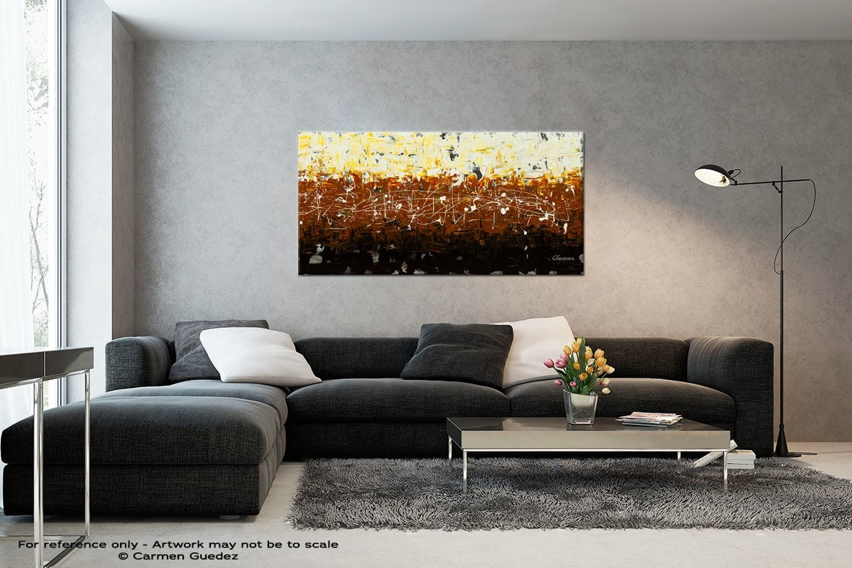 Terra Matter Black And White Wall Abstract Art Painting Id70