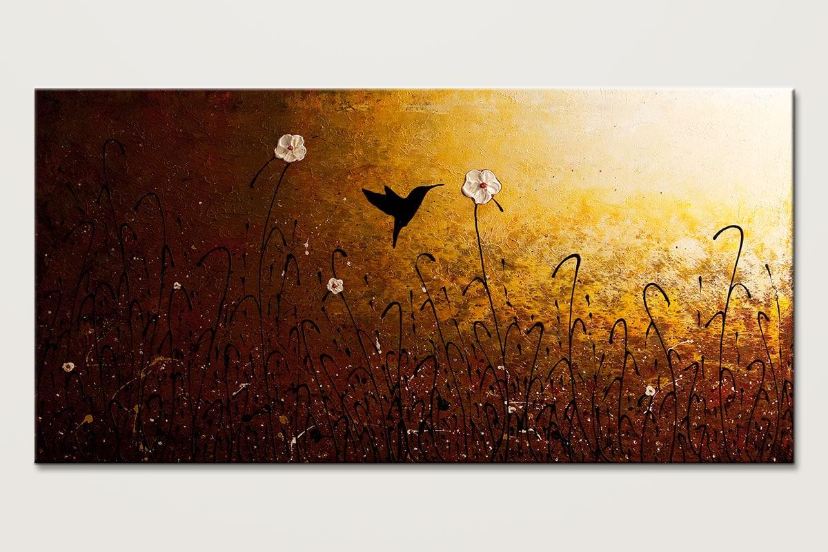 The Flight Of A Hummingbird Abstract Art Id80
