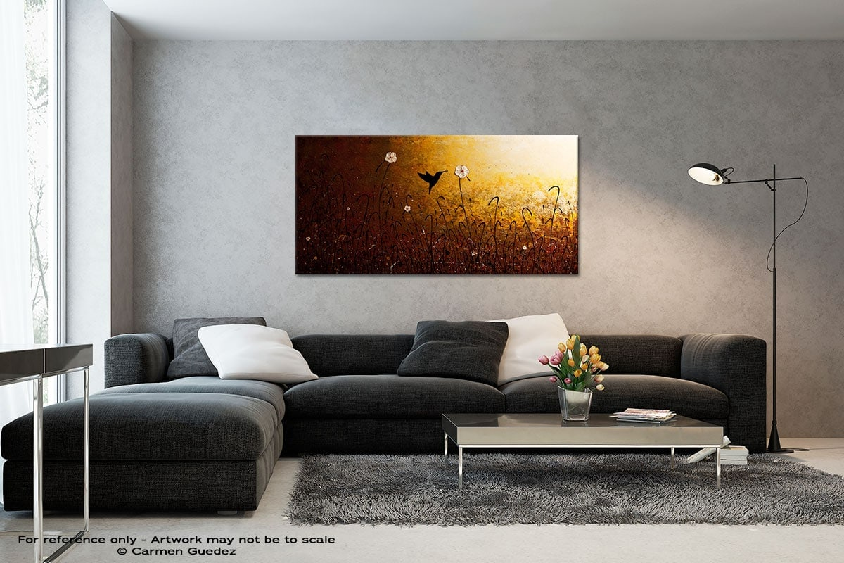 The Flight Of A Hummingbird Black And White Wall Abstract Art Painting Id70