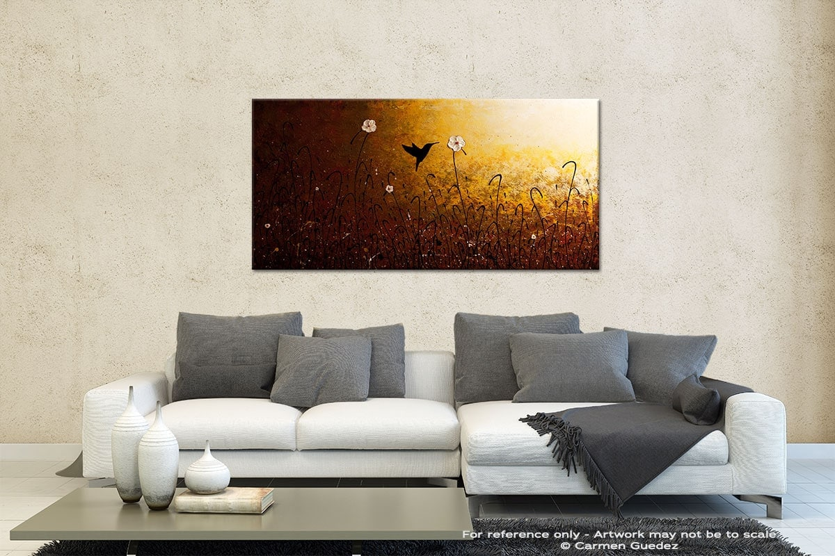 The Flight Of A Hummingbird Contemporary Abstract Art Id35